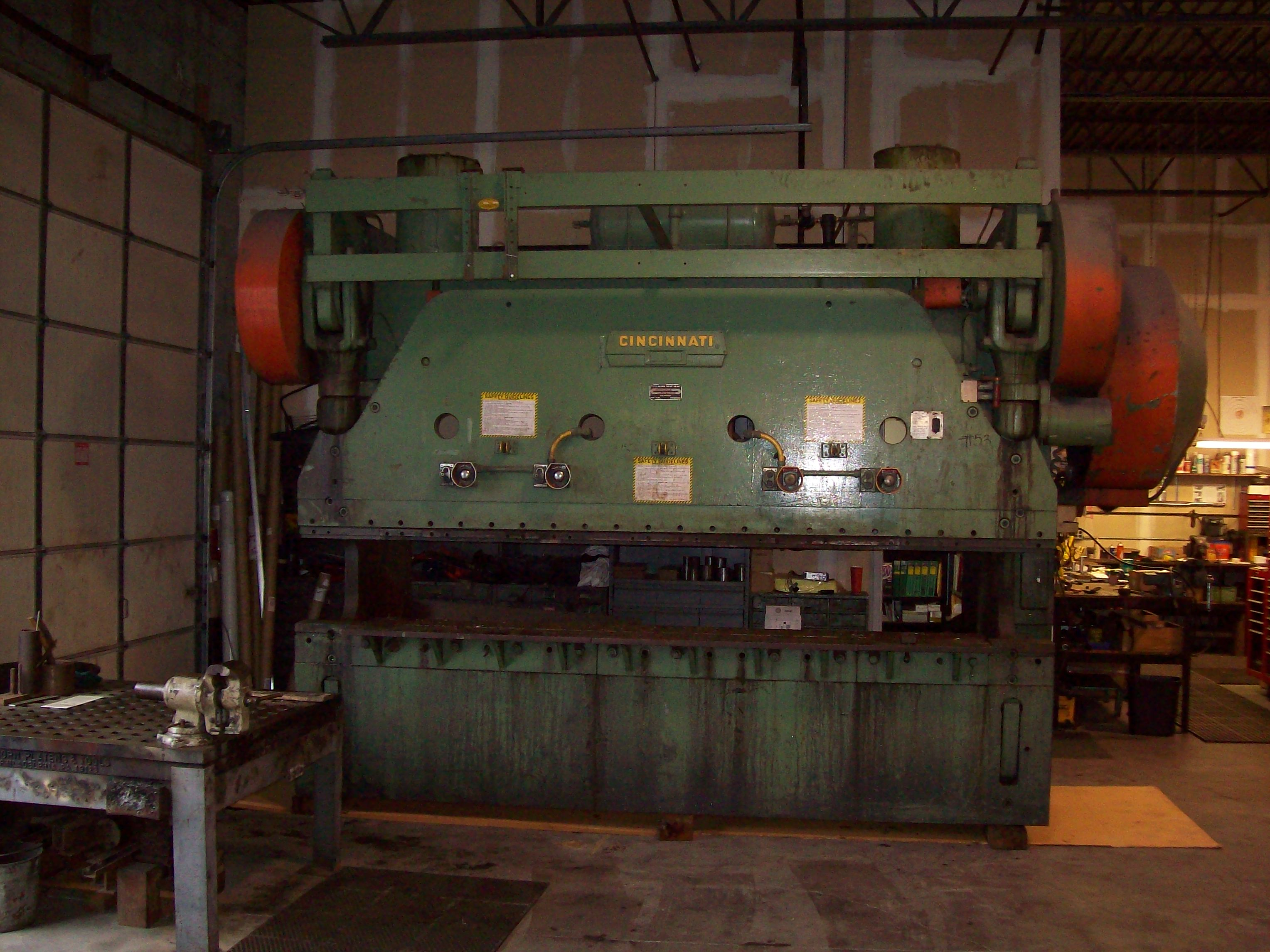 Cincinnati press brake rebuildin
